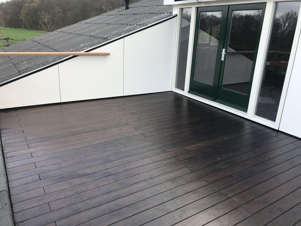 Balkon met Bamboe buitenparket